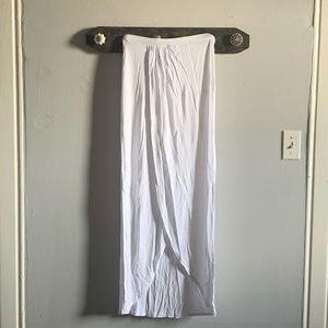 ASOS white maxi skirt
